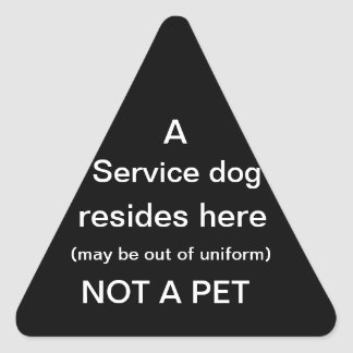 Service dog resides here sticker black