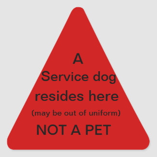 Service dog resides here sticker red