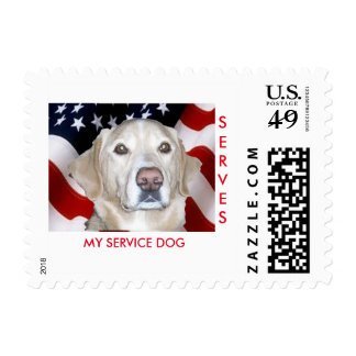 SERVICE DOG STAMP