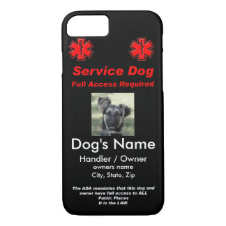 Service Dog Tag iPhone 7 Case