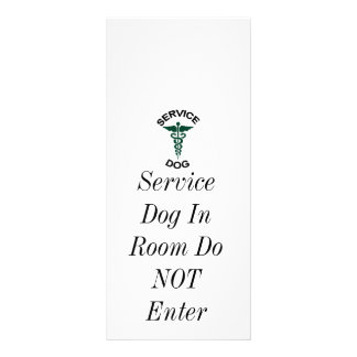 Service dog tag personalized rack card