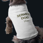 "Service Dog Vest T-Shirt<br><div class=""desc"">Customizable shirt for your Service Dog.</div>"