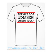 Service Dog Working Please Do Not Touch Flyer