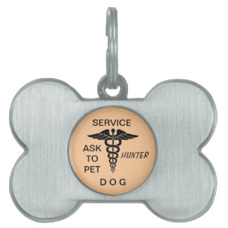 SERVICE DOG YOU NAME PET TAG