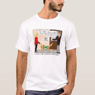 Service Dogs Only Cartoon T-shirt