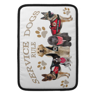 Service Dogs Rule Merchandise and Apparel MacBook Sleeve
