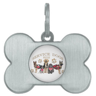 Service Dogs Rule Merchandise and Apparel Pet Tag