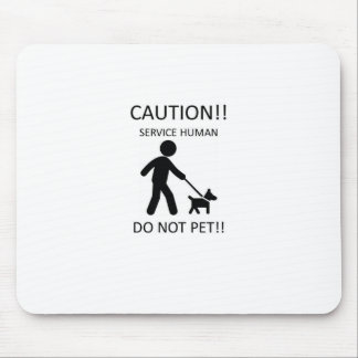 Service Human Man with Dog.jpg Mouse Pad