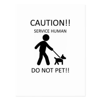 Service Human Man with Dog.jpg Postcard