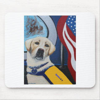 Service K-9 Yellow Lab Mouse Pad