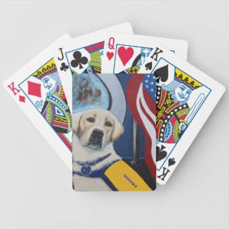 Service K-9 Yellow Lab Bicycle Playing Cards