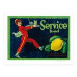 Service Lemon LabelLa Habra, CA Postcard