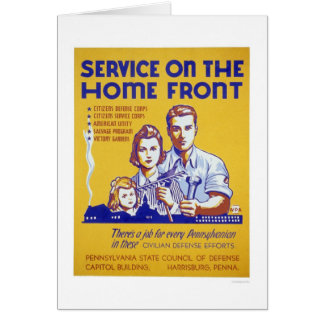Service On The Homefront WPA Card