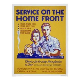 Service On The Homefront WPA Poster