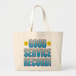 Service Record Life B Large Tote Bag