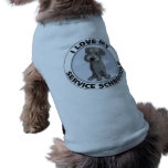Service Schnoodle Dog T-shirt