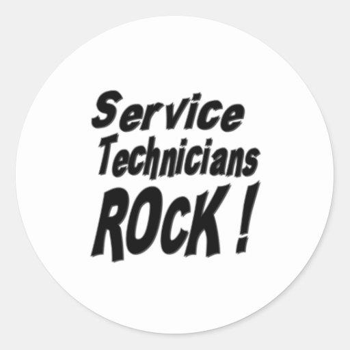 Service Technicians Rock! Sticker