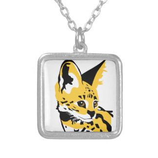 Service tree square pendant necklace