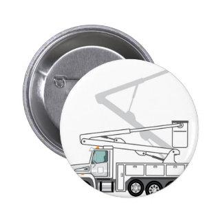 Service Truck Pinback Button