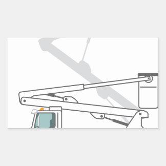 Service Truck Rectangular Sticker