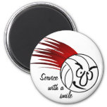 Service With A Smile Fridge Magnet