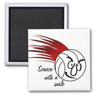 Service With A Smile Refrigerator Magnets