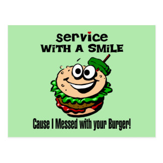 Service With A Smile Postcard