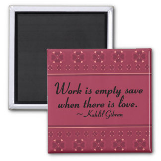 Service without love is empty 2 inch square magnet