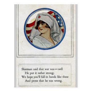 Serviceman/Nurse Postcard