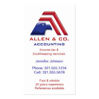 Services_Accounting financiero, contabilidad Tarjeta De Visita