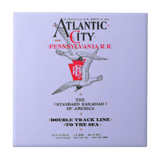 Servicio 1904 de Atlantic City del ferrocarril de Azulejo Cuadrado Pequeño