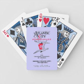 Servicio 1904 de Atlantic City del ferrocarril de Baraja Cartas De Poker