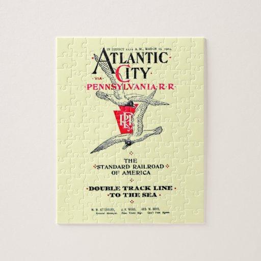 Servicio 1904 de Atlantic City del ferrocarril de  Puzzle