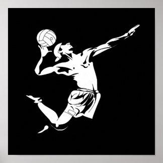 Servicio 2 del voleibol póster
