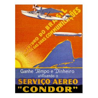 Servicio aéreo de Brazillian del ~ del cóndor Postales