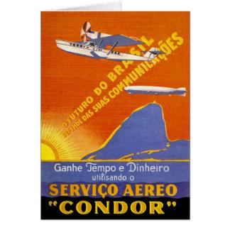 Servicio aéreo de Brazillian del ~ del cóndor Tarjeta De Felicitación