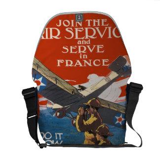 Servicio aéreo de reclutamiento militar del vintag bolsa messenger