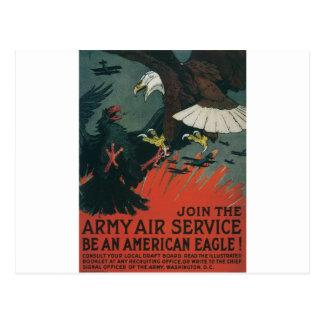 Servicio aéreo del ejército circa 1917 tarjeta postal