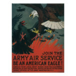 Servicio aéreo del ejército poster