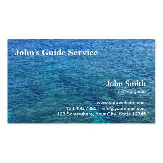 Servicio azul del viaje de la guía de la pesca del tarjetas de visita