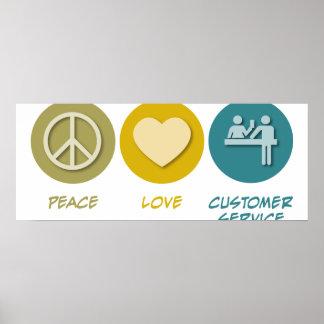 Servicio de atención al cliente del amor de la paz impresiones