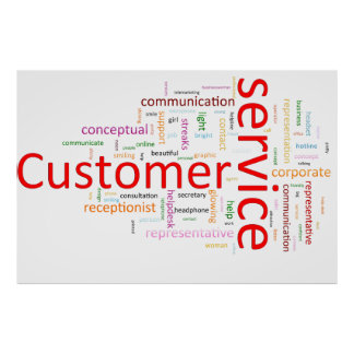 Servicio de atención al cliente posters