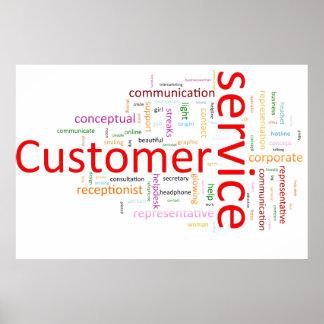 Servicio de atención al cliente póster