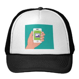 Servicio de autobuses del uso de Smartphone en Gorros Bordados