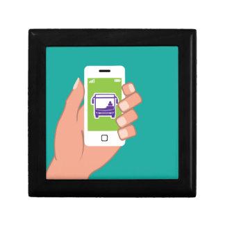 Servicio de autobuses del uso de Smartphone en Joyero Cuadrado Pequeño