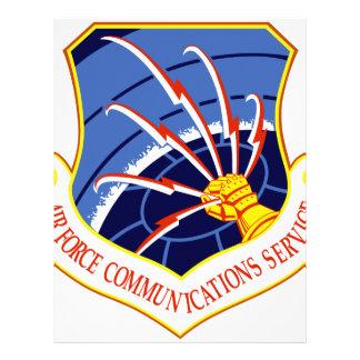 Servicio de comunicaciones de la fuerza aérea membretes personalizados