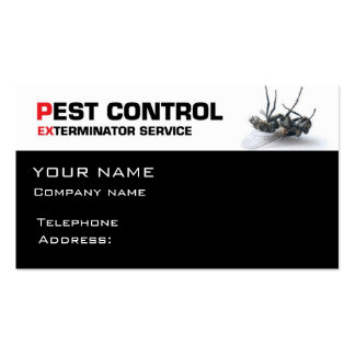 Servicio de control de parásito plantillas de tarjetas personales