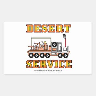 Servicio de desierto de Slickline, cable metálico, Pegatina Rectangular