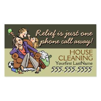 Servicio de Housecleaning.Maid. Texto/color de Tarjetas De Visita