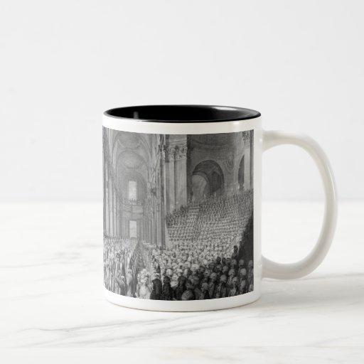 Servicio de la acción de gracias en la catedral de tazas de café
